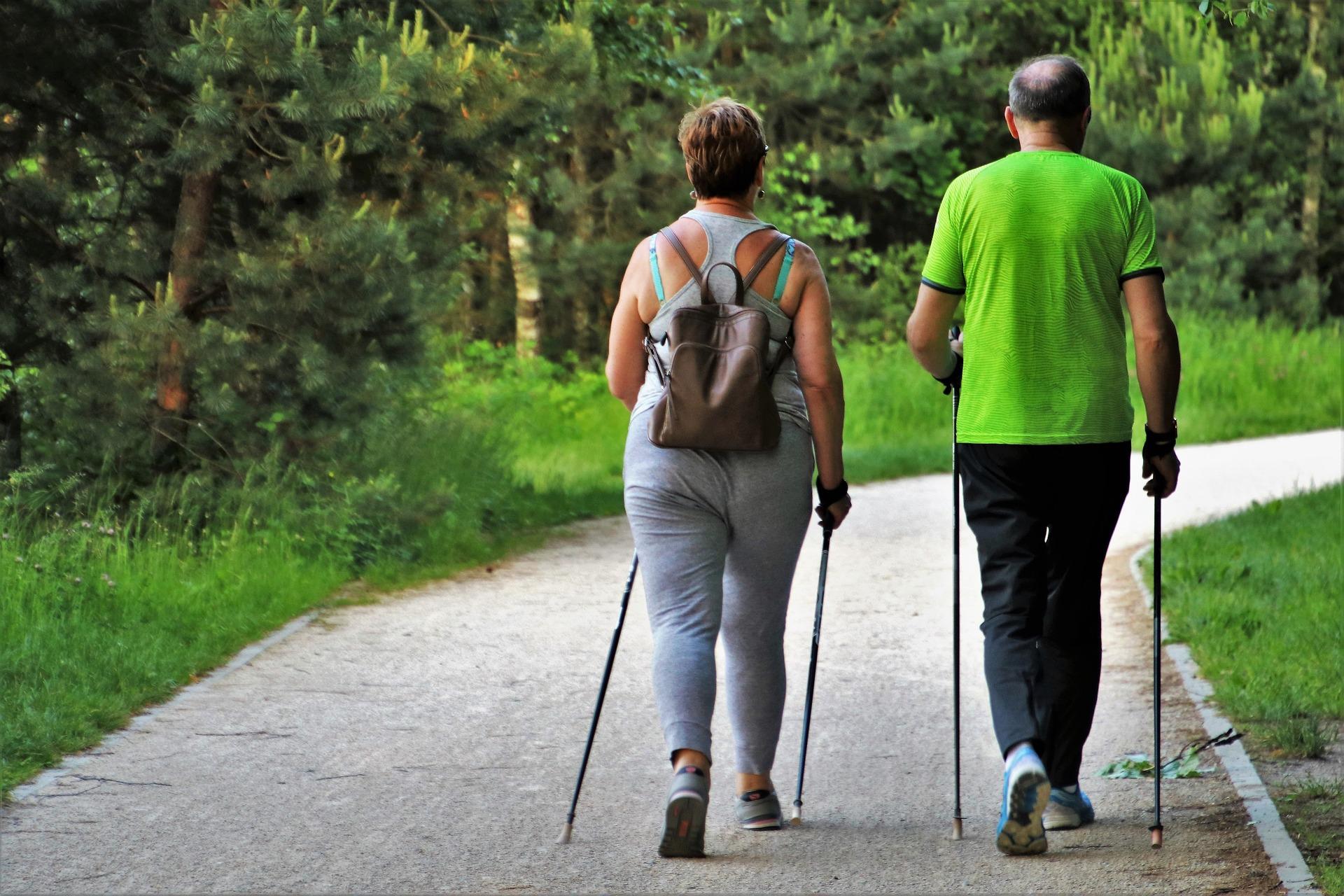 Chůze s trekovými holemi pomáhá snadněji hubnout / foto: pixabay.com