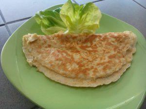 Ukázka jídla KetoMIX - chutnou omeletu doplníte zeleninou