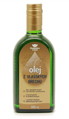 Nerafinovaný olej z vlašských ořechů / foto: prozdravi.cz