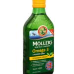 Möller's rybí olej Omega 3 z tresčích jater s citronovou příchutí / foto: prozdravi:cz