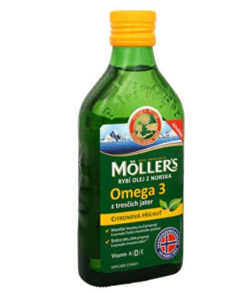 Rybí olej Möller's Omega 3 z tresčích jater s citronovou příchutí / foto: prozdravi.cz