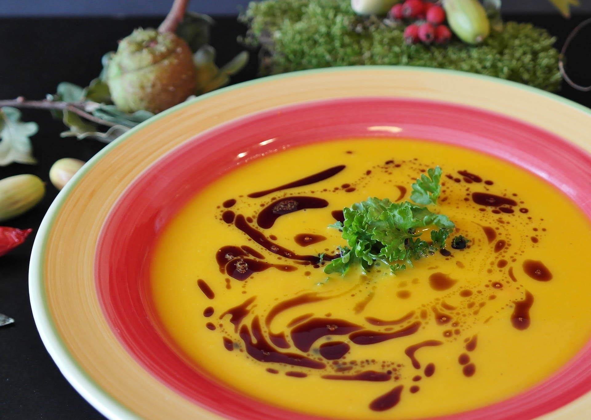Dýňový olej nádherně vynikne v krémové polévce / foto: pixabay.com