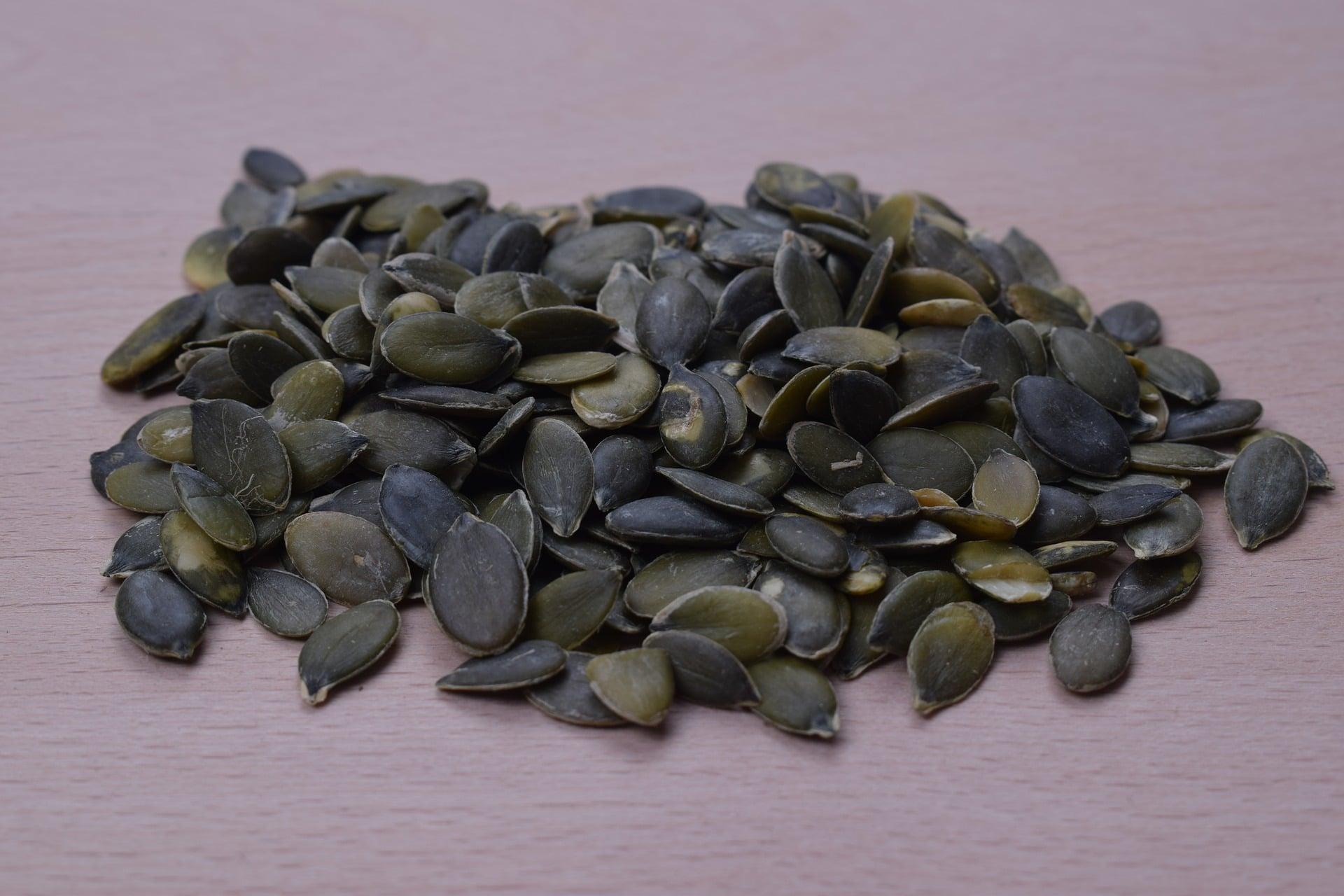 Dýňová semena mají nazelenalou barvu a jsou bohatým zdrojem zinku / foto: pixabay.com